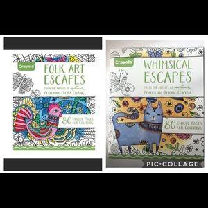 Crayola Extra Large Adult Coloring Books Bundle